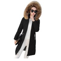 Wholesale Low Price Fur Coats - Hot!Lowest price 2017 New Women Winter Coat Real Raccoon Fur Collar Warm Coat Woman Outerwear Parkas Down Winter Jacket Fur 18CM