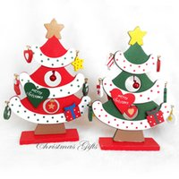Wholesale Wholesale Christmas Decor Trees - Wooden Christmas Tree Decorations Accessories DIY Handcrafted Ornament Decor Christmas Party Supplies Lovely Decorations