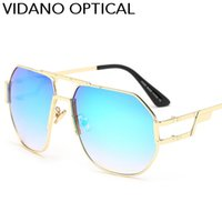 Wholesale High Quality Fashion Optical Frames - New Arrival Vidano Optical High Quality Sunglasses For Men and Women Luxury Europe Classic Design Gradient UV400 Protection