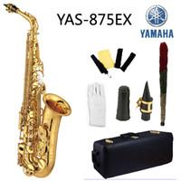 Wholesale Alto Saxophone Black - Wholesale- New High Quality Saxophone Alto Sax YAS 875 EX Musical Instruments Professional E-flat Sax Black Saxofone Alto Saxophone