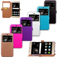 Wholesale Huawei Ascend Honor Cases - PU Leather Flip Fold Wallet Case with [ID&Credit Card Slot] for Huawei P8 P9 Nova LITE Honor 5C Ascend 4A 6X Y5 II Y6 2