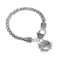Wholesale Necklace Bracelet Jewlery Sets - Religious Necklaces with Knot Goddess Pentacle Charm Bracelet Classic Link Chain Jewlery for Men and Women