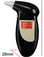 Enchufes de fábrica +5 boquilla Digital LCD Backlit Display Llavero Alcohol Tester Alcohol Breath Analyzer Digital Breathalyzer