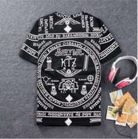 Wholesale La Bandana - 2017 brand RHUDE LA Bandana Print camisetas masculinas HARAJUKU ktz t shirt men HBA hip hop tshirt mens fashion swag fitness