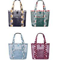 Wholesale Hanging Floral Wholesale - New model portable necessaire travel women mesh cosmetic bag make up beach bag handbag hanging toiletry bag