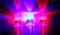 Wholesale Blue Bead Led Light - Wholesale- 5mm red and blue double color automatic flashing each other LED Light Beads long leg