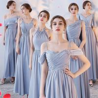 Wholesale convertible neckline bridesmaid dresses for sale - Country  Bridesmaid Dresses Cheap Long Bridesmaids Dresses Mixed 70cfbea8ab2e