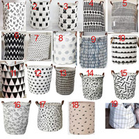 Wholesale Kids Handbag Pattern - Hot design Grid Batman Pattern Handbag Baby Kids Toy Clothes Canvas Laundry Basket Storage Bag With Handles Room Decor