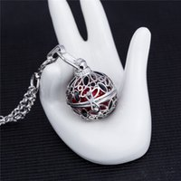 Wholesale Harmony Ball Charm Pendant Silver - Gothic Jewelry Caller Harmony Guardian Angel Cage Necklace 6 Colors Pregnancy Ball Pendants Chain Aromatherapy Jewelry Locket Necklace