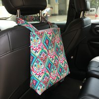 Wholesale Blank Accessories - Lilly Floral Car Trash Bag Wholesale Blanks Fabric Accessory Trash Holder Tote Car Trash Bin in Crown Flamingo 5 colors DOM106608