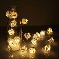 Wholesale Luces Led Navidad - Wholesale- 2m 3m 4m 5m 10m Battery Operated Christmas Garland Lights PE Rose LED String Fairy Lights Guirlande Lumineuse Led Luces navidad