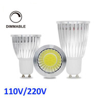 Wholesale Super Bright E27 Dimmable - Super Bright Dimmable LED 9w 12w 15W COB GU10 GU5.3 E27 E14 MR16 LED Sport light lampS CREE downlight DC12V AC 110V 220V 240V Spotlight