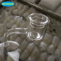 Wholesale 2017 Latest XXL Quartz Thermal Banger mm mm mm Double Tube Quartz Nail Thermal Quartz Banger Nail For Glass Water Pipes Glass Bongs
