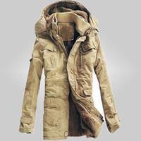 Wholesale Men S Dress Hats - Wholesale- free shipping New Arrivals 2017 Men winter dress Jacket Winter Down Parka Man Overcoat 3 colors Men cotton-padded jackets