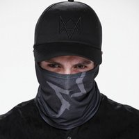 Wholesale Novelty Mens Watches - 2 Pieces set Watch Dogs Aiden Face MASK Cap Cotton Hat Set Costume Cosplay Mask Hat Mens 6 Panel Tactique Baseball Caps