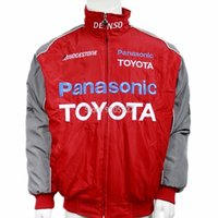 Wholesale F1 Pads - Wholesale- Special offer Toyota F1 fashion suits padded jacket embroidered long-sleeved coats