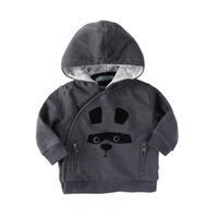 Wholesale Infant Baby Boy Jackets - Baby Boys Clothing Outwear Long Sleeve Cotton Animal Pattern European Style Hoodies Winter Infant Clothes Jackets