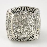 Wholesale Custom 18k Gold Ring - Sports ring Replica 2004 USC Trojans custom National Championship Ring for men as gift solid