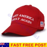 Wholesale Ball America - Trump Make America Great Again 2017 Red Quality Embroided Adjustable Cap Hat