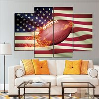 Wholesale Passion Paintings - The Flag and The Rugby Are Filled with Passion In My Heart Frameless Paintings