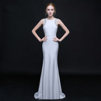 Wholesale Sexy Evening dress sweep train with luxury major beading Runway Fashion and red carpet dress sweep train JMF09