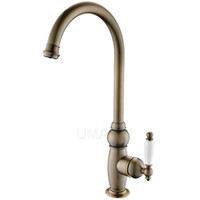 Wholesale Brass Toilet Brush - Wholesale Retail Bathroom Basin Faucets Antique Brass Brushed Bronze Single Handle Deck Mounted Hot Cold Mixer Toilet Sink Taps ABMPL027