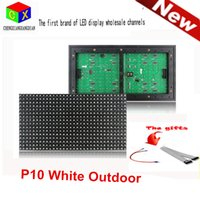 IP45 outdoor led matrix - White P10 LED outdoor Display Module Panel Window Sign Shop Sign X16 Matrix waterproof high brightness for scrolling text