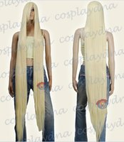 Wholesale Extra Long Blonde Cosplay Wig - 60 inch Hi_Temp Series Light Golden Blonde Extra Long Cosplay DNA Wigs