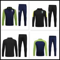 Wholesale Best David - best thai quality 2016 2017 Brazil Training suit 16 17 Brazil NEYMAR JR PELE OSCAR D.COSTA DAVID LUIZ football shirt