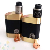 kits de cuerpo gratis al por mayor-Vaporizador El kit Rig Pig viene con la Mod Rig Pig Box y ROUGHNECK RDA fit 18650 Batería Cuerpo de latón Sin DHL