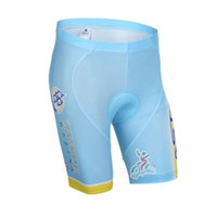 Wholesale Astana Cycling Team - 2017 Team ASTANA cycling shorts 3D gel pad bibs shorts Ropa Ciclismo quick dry pro cycling wear summer bike Maillot Suit