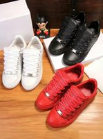Wholesale Arena Sizes - 2017 Men Classic Genuine Leather Arena Brand Flats Sneakers Male Low Top Shoes Fashion Luxury Casual Lace Up Shoes Size 38-46.