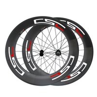 700C 88mm Clincher Tubular Carbon Wheels for Road Bike Super Light 23 milímetros de largura Powerway R13 Road Bicycle Wheelset com decalques