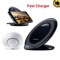 Wholesale Real Galaxy - Wireless Charger Real Fast Charging Pad for Samsung Galaxy S7 edge S7 S6 edge Plus Note 5 Vertical Quick Charger