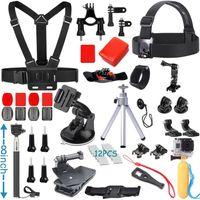 Wholesale Accessory Bundle Kit - Accessories Kit for Gopro Hero 5 4 3+ 3 2 1 SJ4000 SJ5000 SJ6000 SJ7000 Camera bundle kit for Xiaomi Yi, (25in1)