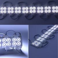 modules élevés achat en gros de-Module de l'injection LED haute luminosité Module de publicité DC12V 0.96W 4 étanche à l'eau SMD 5050 led Modules LED colorés IP66