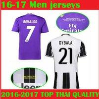 Wholesale Dot Jersey - Real madrid Champion League Final Cardiff 2017 soccer Jersey Juv Vs Madrid Benzema Ronaldo Bale Real HIGUAIN Dybala football shirts
