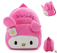 Wholesale Model Girl Backpack Bags - Baby backpacks kids plush school bag boys girls cartoon anime modelling princess bag fashion new children double shoulder backpack T4107