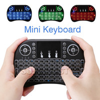 Keyboard Only package pc tablets - RII Air Mouse Multi light Wireless Keyboard Mini I8 GHz Touchpad Remote Control For TV BOX Game Play Tablet Mini PC with Retail Package