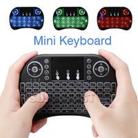 ingrosso tastiere retroilluminate-Tastiera Air Mouse Rii i8 Mini tastiera wireless Android Tv Box Telecomando Retroilluminazione Tastiere Utilizzati per S905W S912 In Box