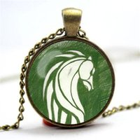 Wholesale glass dome rings - 10pcs lot Lord of the Rings Rohan Flag banner inspired glass cabochon dome pendant