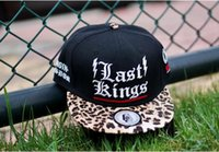 Wholesale Dark Gray Snapback - Last Kings leather Leopard Collection Snapback caps adult hats black red gray LK new arrival mens women adjustable baseball hat Freeshipping