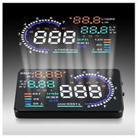 Wholesale Car Security System Wholesale - A8 5.5 inch Car HUD Head Up Display Vehicle-mounted Security System OBD2 Interface Plug Play KM h MPH Speeding Warning