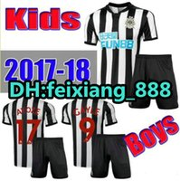 Wholesale Best Youth Jerseys - 17 18 Newcastle United kids soccer jersey best quality 2017 2018 GAYLE MITROVIC RITCHIE Children youth football shirt