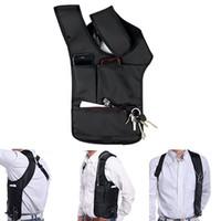 koltukaltı çantaları toptan satış-Toptan Satış - Güvenli Seyahat Anti-Hırsızlık Gizli Koltukaltı Omuz Çantası Çift Çanta Tasarım Kılıfı