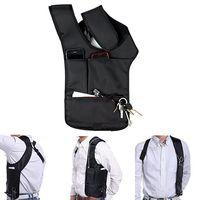 Wholesale wholesale nylon backpack - Wholesale- Travel Safe Anti-Theft Hidden Underarm Shoulder Bag Double-Bag Design Pouch