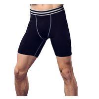 pantalones ajustados de baloncesto al por mayor-Fitness masculino baloncesto correr pantalones de entrenamiento compresión elástica pantalones rápidos medias deportivas pantalones MA29