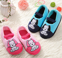 Wholesale Children S Footwear Wholesalers - Toddler Girls Slippers for Boys Cute Cartoon Sandals Children 's Home Indoor Cotton Flats Child Soft Rubber Sole Kids Footwear in House