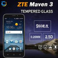 ingrosso zte carica-Proteggi Schermo in Vetro Temperato per ZTE Maven 3 Z835 ZTE TEMPO X N9137 LG X Carica Accessori per cellulari con imballaggio 10 in 1