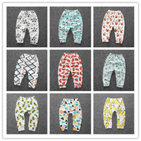 Wholesale Melee Clothing - 2017 Cartoon Baby Busha PP Pants Baby Girls Boys Panda Brand Leggings Baby Clothing Trousers Harem Leggings Kids Striped Tights Melee